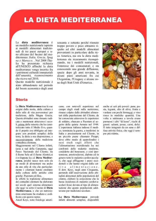 La dieta mediterranea èun modello nutrizionale ispiratoai modelli alimentari tradizio-nali di tre paesi europei e u-no afr...