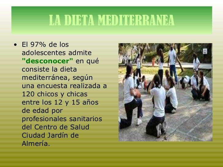 La dieta mediterranea xxl for Centro de salud ciudad jardin almeria