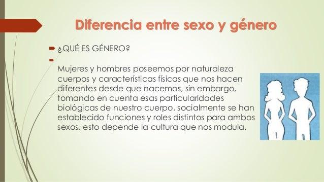 Que es diferencia de genero