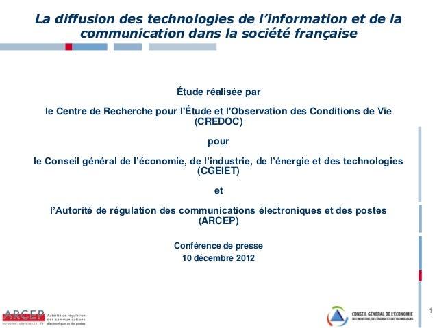 La diffusion des technologies de l'information et de la ...