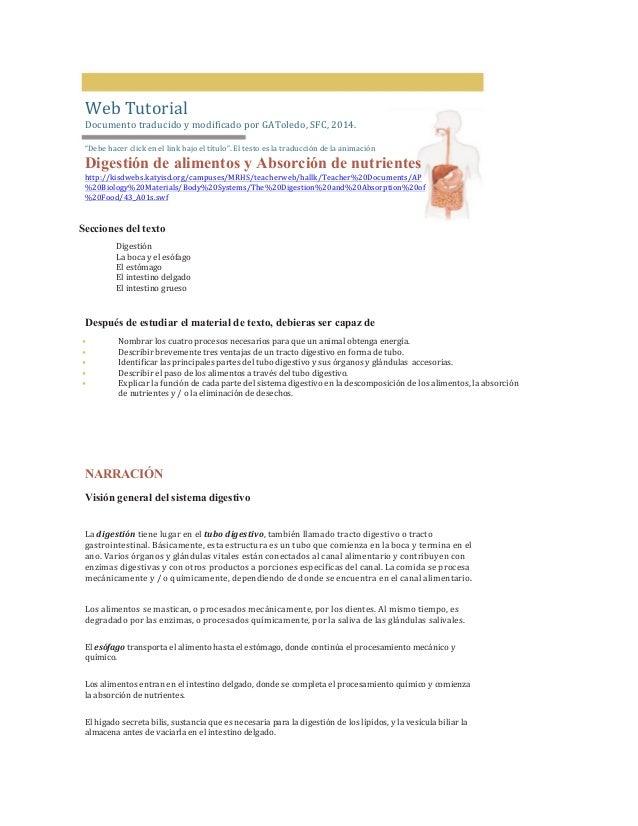 """Web  Tutorial   Documento  traducido  y  modificado  por  GAToledo,  SFC,  2014.          """"Debe..."""