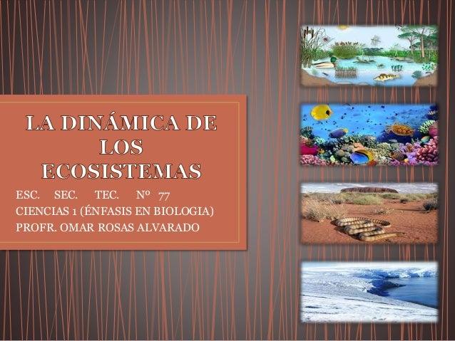 ESC. SEC. TEC. Nº 77 CIENCIAS 1 (ÉNFASIS EN BIOLOGIA) PROFR. OMAR ROSAS ALVARADO