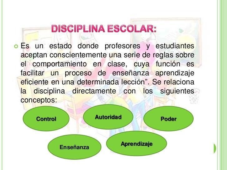 La disciplina for Normas de comportamiento en el restaurante escolar