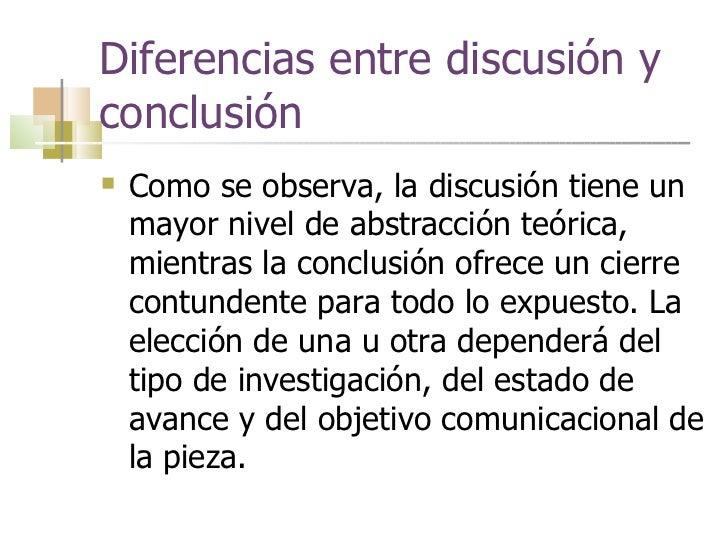 Como Escribir Discusion Y Conclusion