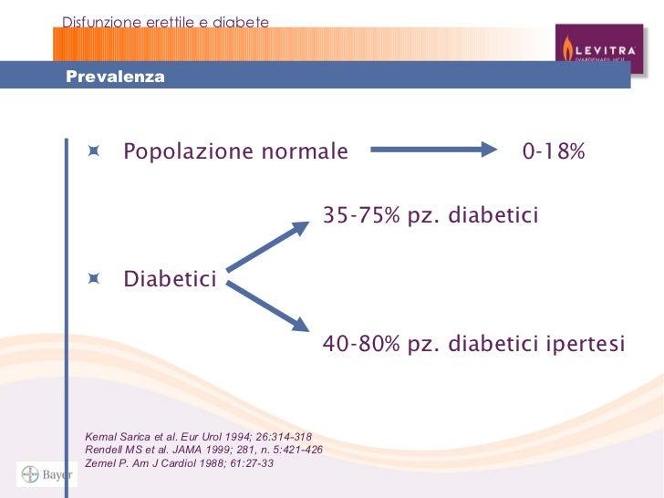 disfunzioni erettili diabete