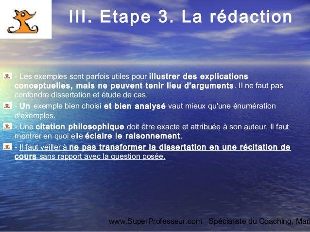 Dissertation philosophique introduction exemple