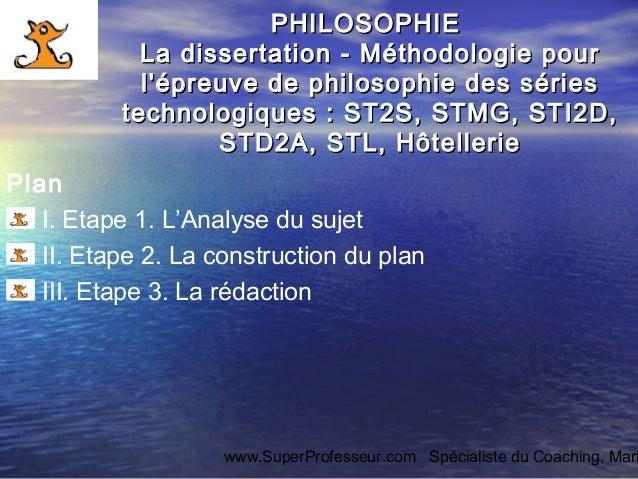 comment faire une dissertation en philosophie sti2d
