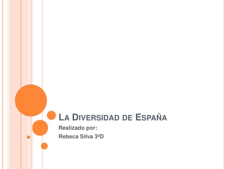 LA DIVERSIDAD DE ESPAÑARealizado por:Rebeca Silva 3ºD
