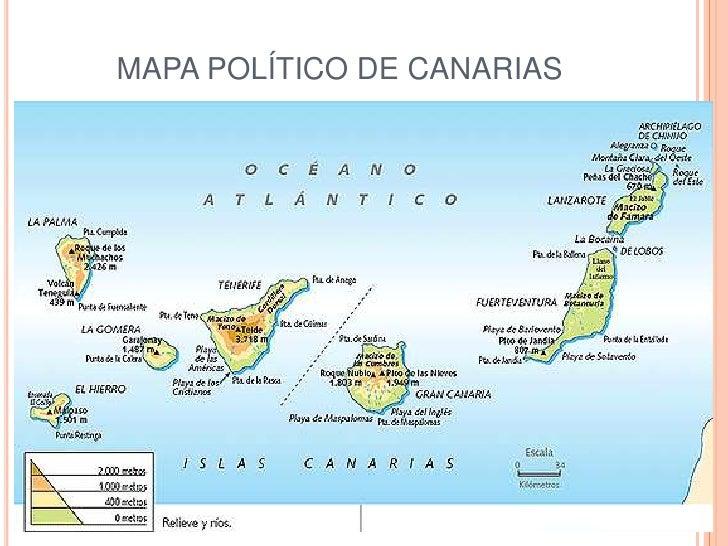 Mapa Politico De Canarias.La Diversidad De Espana