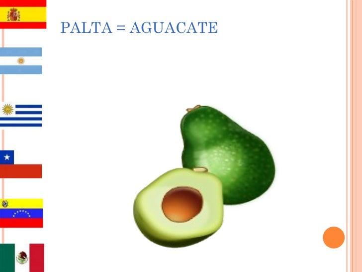 PALTA = AGUACATE