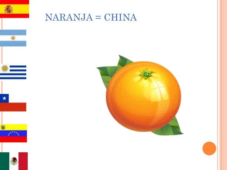 NARANJA = CHINA