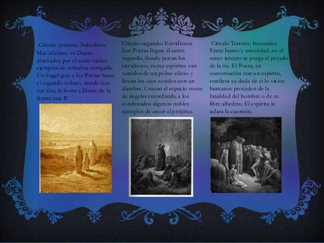 Círculo primero: Soberbios. Mas adelante ve Dante diseñados por el suelo varios ejemplos de soberbia castigada. Un ángel g...