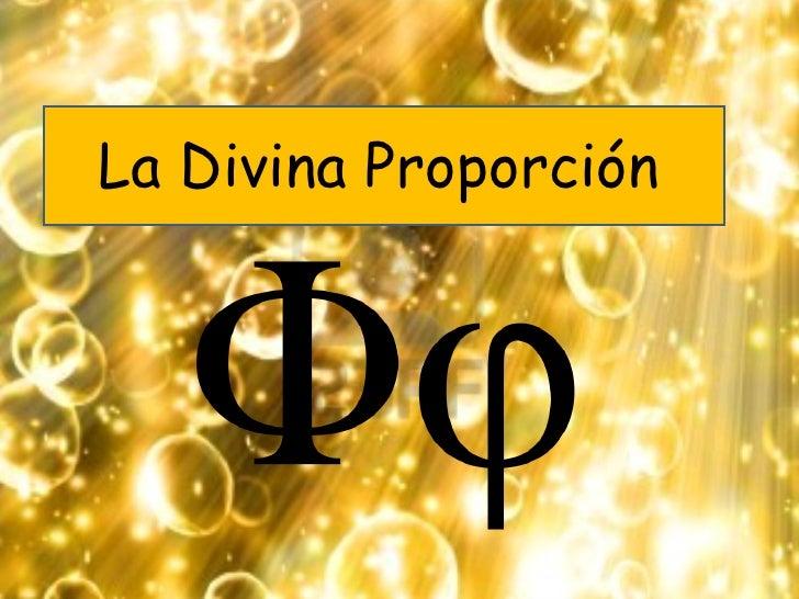La Divina Proporción