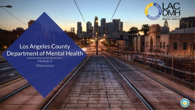 Los Angeles County Department Of Mental Health Depression