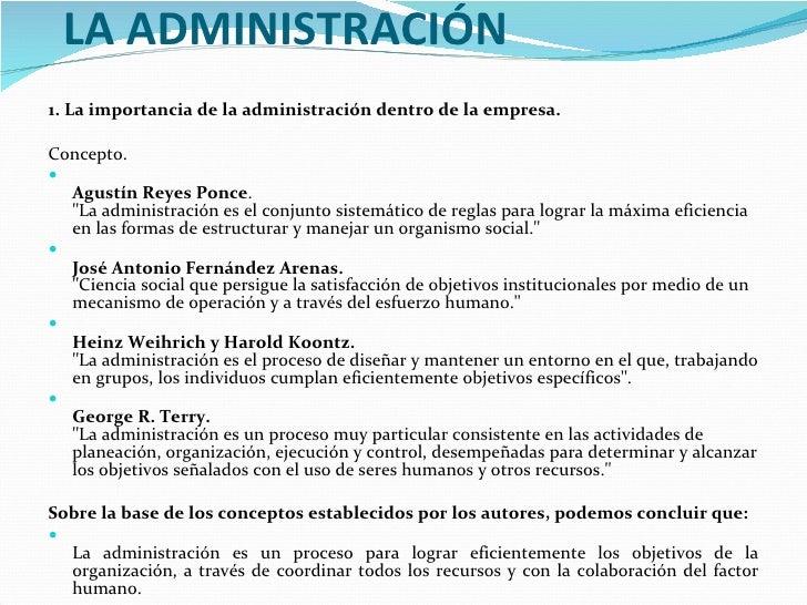 La administracion for Concepto de organizacion de oficina