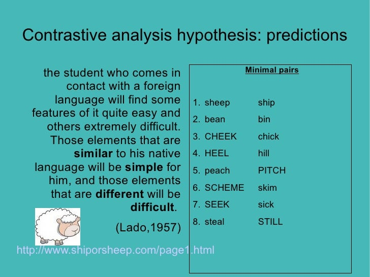 Contrastive Analysis Hypothesis