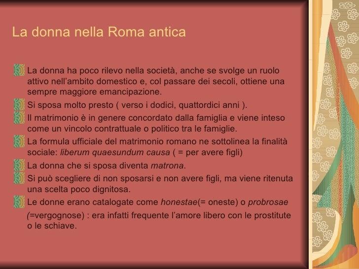 Formula Matrimonio Romano : La donna nella roma antica