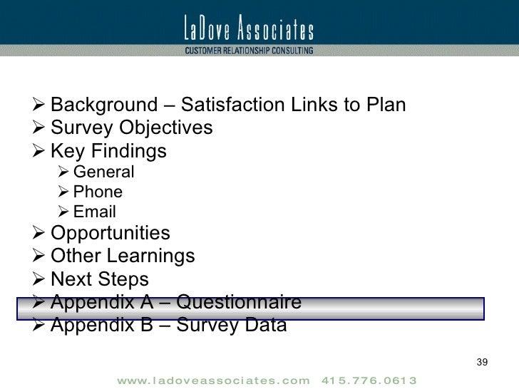 customer satisfaction research report sample