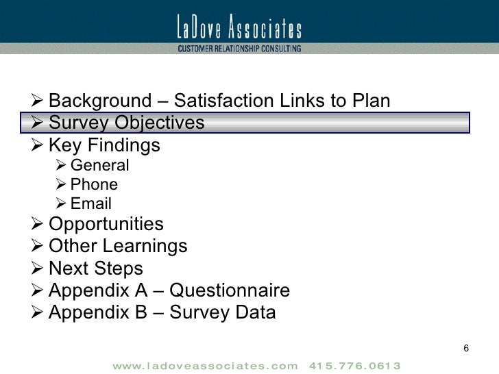 Customer Satisfaction Research Report Sample – Sample Research Report