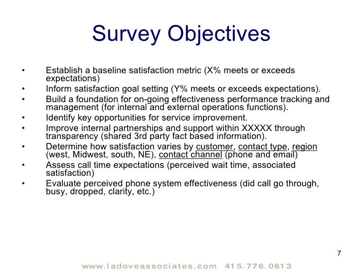 Customer Satisfaction Research Report Sample – Sample Customer Satisfaction Survey