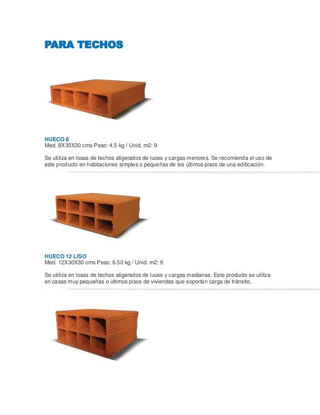 Ladrillos de muro techo - Tipos de ladrillos huecos ...