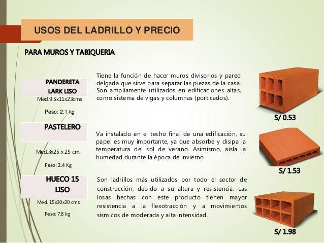 Ladrillo y alba ileria for Precio de ladrillos