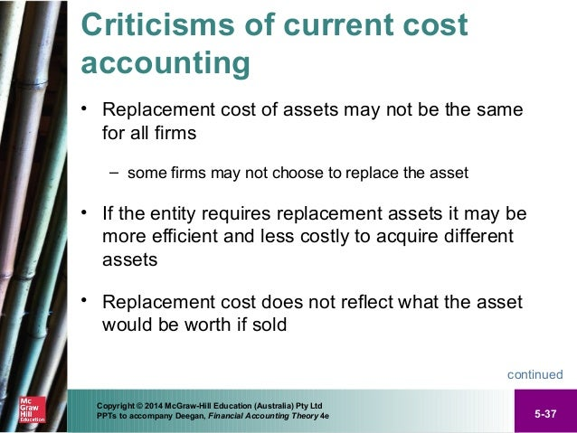 criticism of current cost accounting