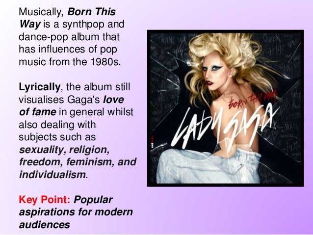 ... Distribution Record Label; 3. Musically, Born This Way ...