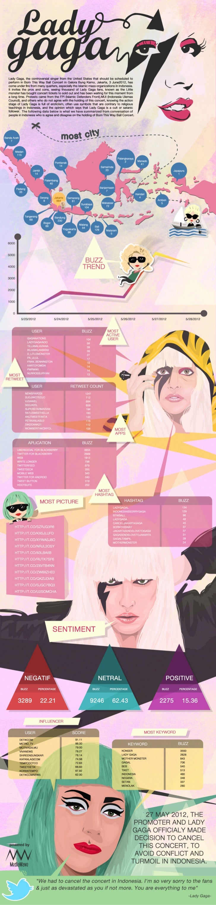 Lady gaga infographic