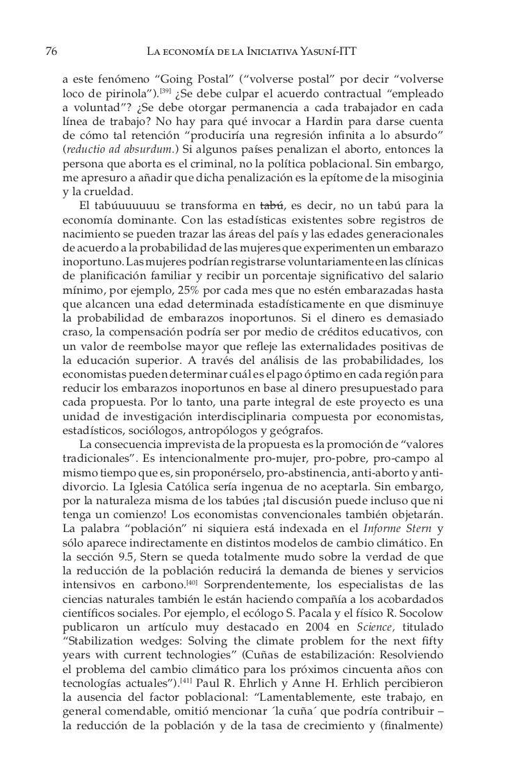 La Economía de la Iniciativa Yasuní ITT