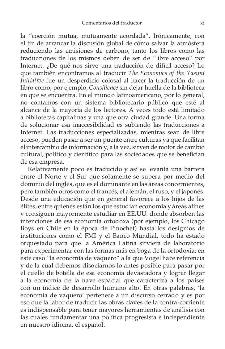 Comentarios del traductor                    xiii   Toda esta empresa de traducción del inglés al español sólofue posible ...