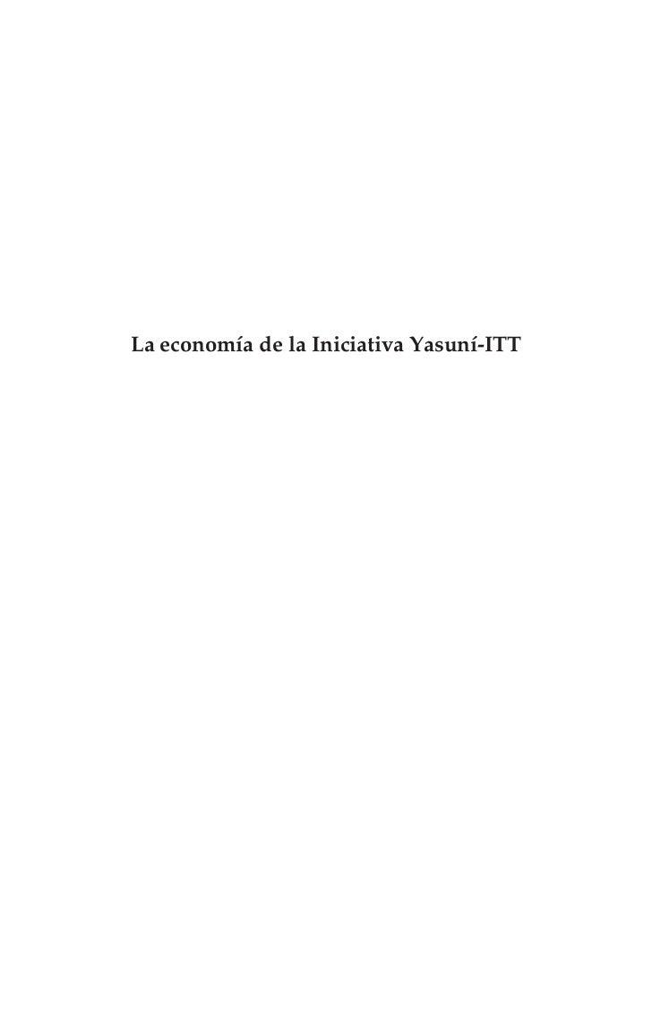 La economía de laIniciativa Yasuní-ITT       Cambio climático como si importara                         la termodinámica  ...