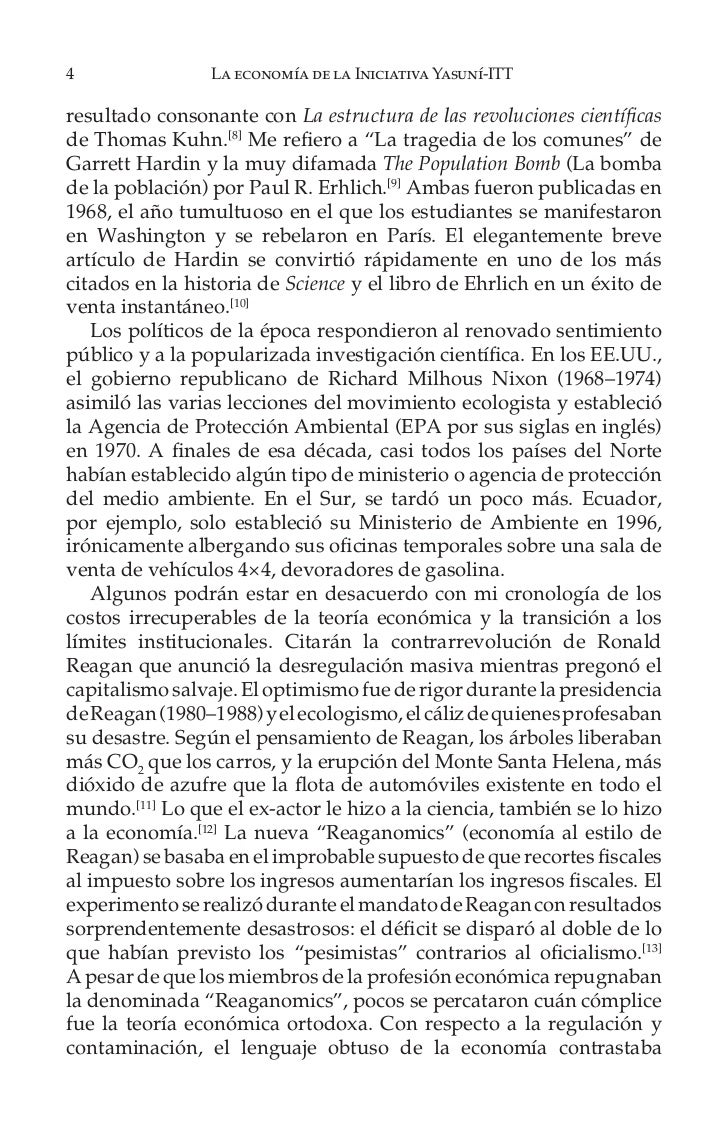10               La economía de la Iniciativa Yasuní-ITT   El idioma elegido para analizar las políticas canalizará laevol...