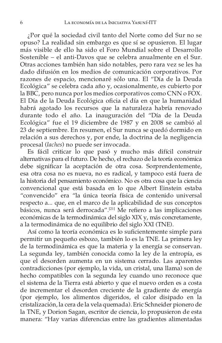 12                   La economía de la Iniciativa Yasuní-ITTFigura 1.1   El efecto invernadero de El Informe Stern, 6.    ...