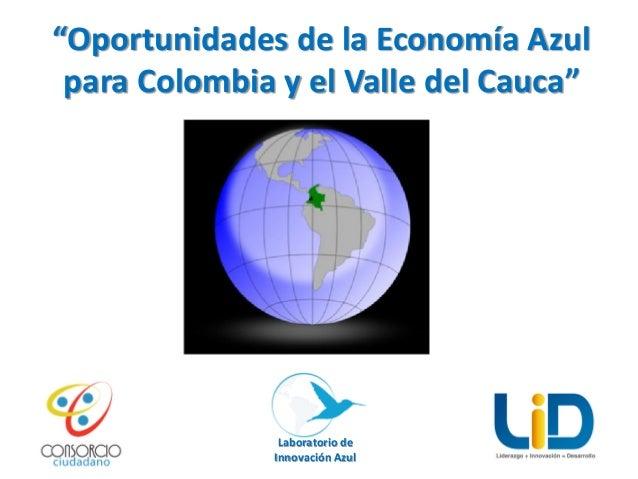 """""""Oportunidades de la Economía Azul para Colombia y el Valle del Cauca""""  Laboratorio de Innovación Azul"""