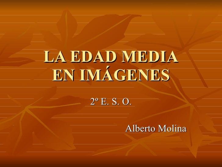 LA EDAD MEDIA EN IMÁGENES 2º E. S. O. Alberto Molina