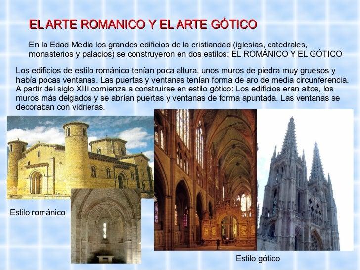 Resultado de imagen de romanico y gotico ESQUEMA PRIMARIA