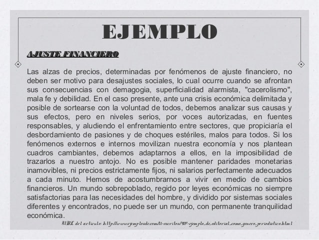 La editorial for Ejemplo de una editorial de un periodico mural