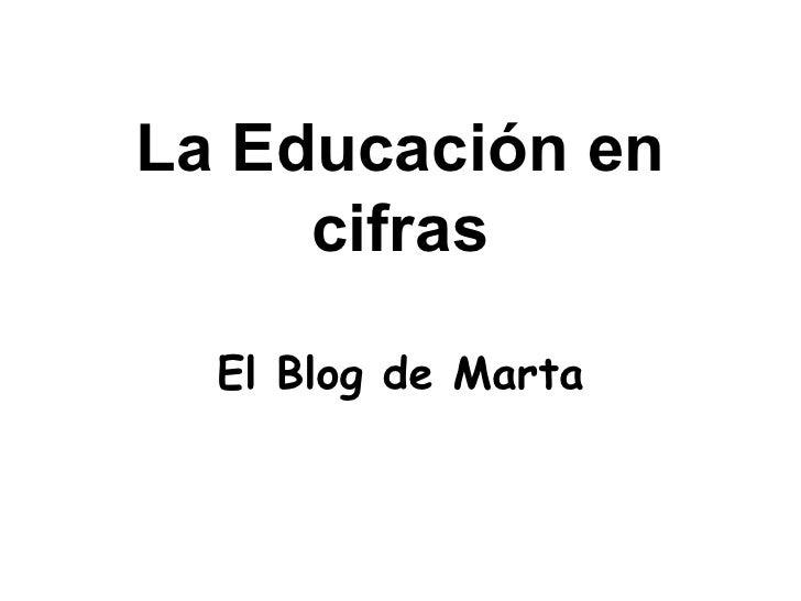 La Educación en      cifras    El Blog de Marta