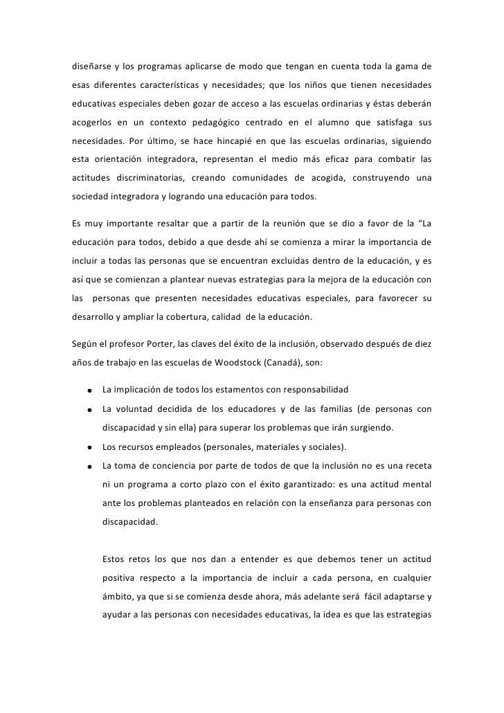La EducacióN Inclusiva Y Retos De La InclusióN Slide 3
