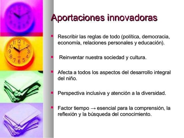 Aportaciones innovadorasAportaciones innovadoras Rescribir las reglas de todo (política, democracia,Rescribir las reglas ...