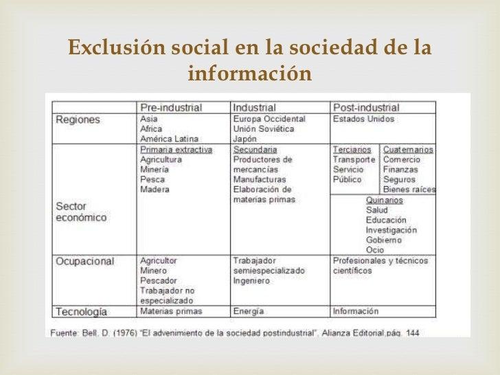 Exclusión social en la sociedad de la           información                