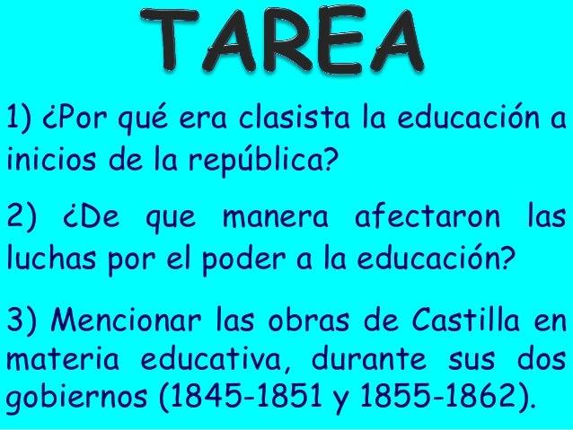 LA EDUCACIÓN A INICIOS DE LA REPÚBLICA Slide 3