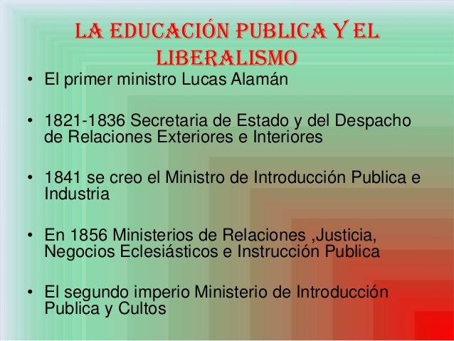 La educacion en el mexico independiente for Ministerio de relaciones interiores y de justicia