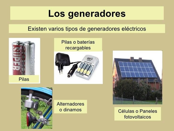 La electricidad - Generadores de electricidad ...