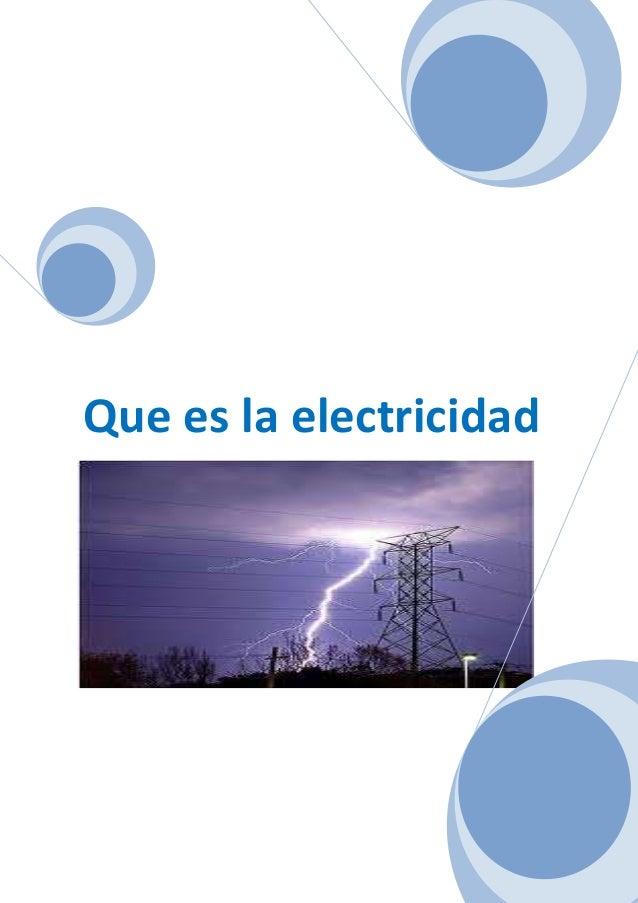 Que es la electricidad