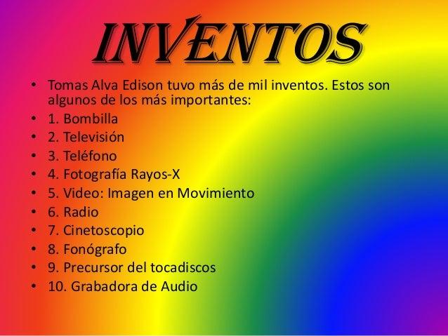 5 inventos de edison