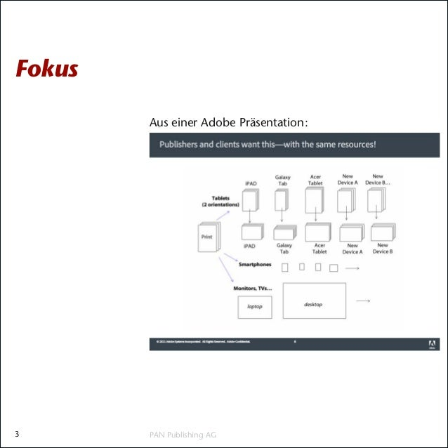 Fokus        Aus einer Adobe Präsentation:3       PAN Publishing AG