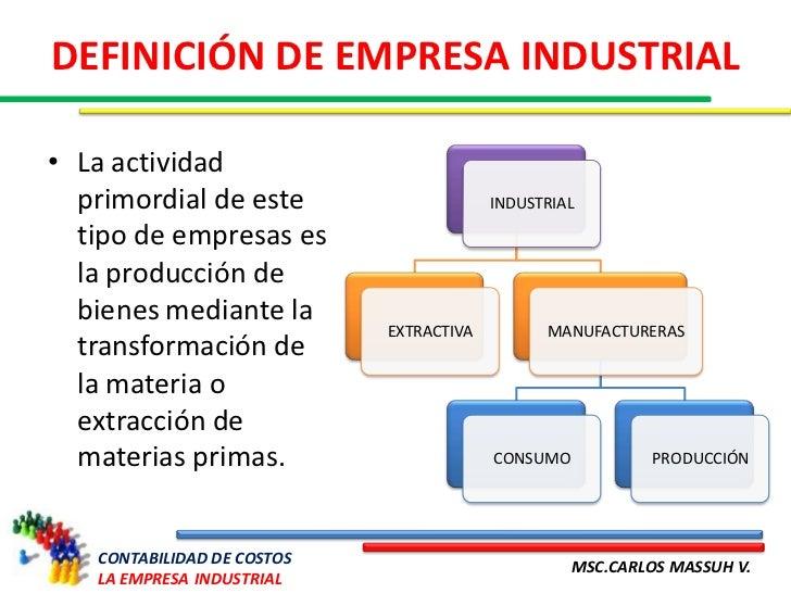 La empresa industrial