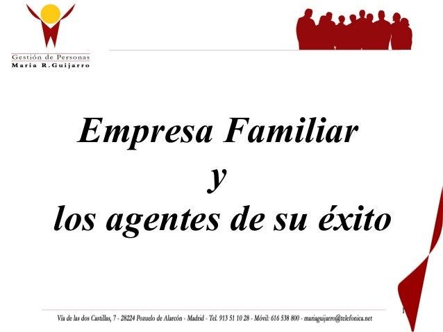 Empresa Familiar y los agentes de su éxito 1